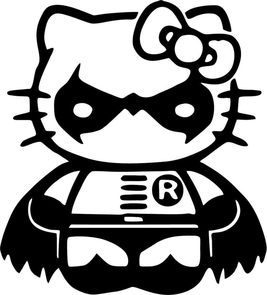 Hello Kitty Robin Batman Vinyl Car Window Laptop Decal Sticker