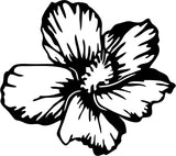 Hibiscus - Version 2 - Vinyl Car Window and Laptop Decal Sticker - Decal - Car and Laptop Window Decal Sticker - 1