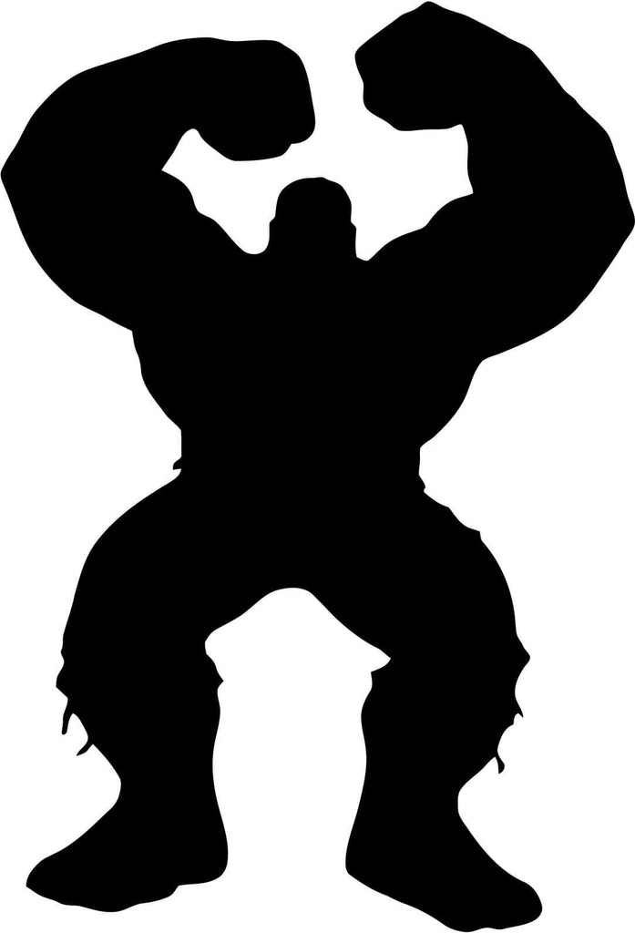 Hulk Full Body Silhouette Smash Vinyl Car Window Laptop Decal Sticker