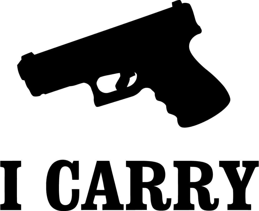 I Carry - Vinyl Car Window and Laptop Decal Sticker - Decal - Car and Laptop Window Decal Sticker - 1