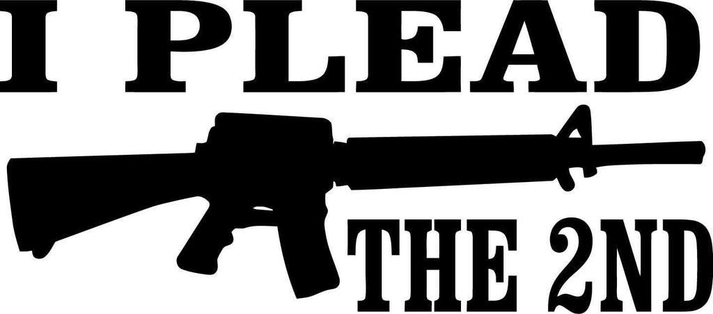 I plead the 2nd - Vinyl Car Window and Laptop Decal Sticker - Decal - Car and Laptop Window Decal Sticker - 1