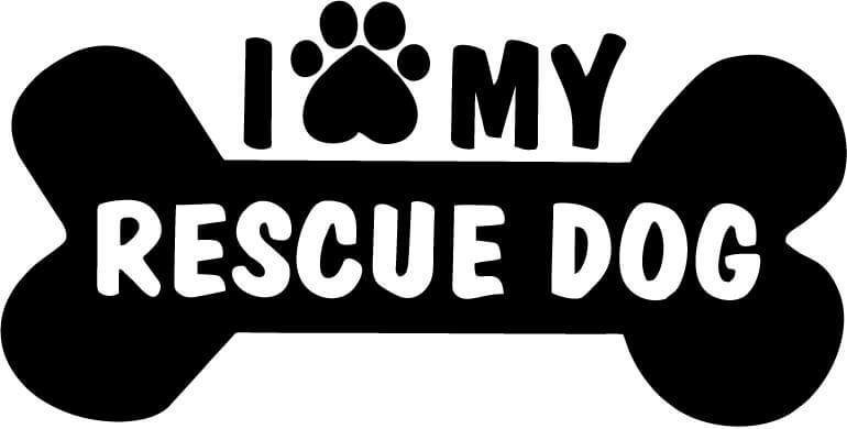 I Love My Rescue Dog Vinyl Car Window Laptop Decal Sticker