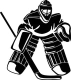 Ice Hockey Goalie Vinyl Car Window Laptop Decal Sticker
