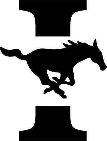 Ingleside Mustangs Vinyl Car Window Laptop Decal Sticker