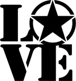 LOVE The US ARMY Vinyl Car Window Laptop Decal Sticker