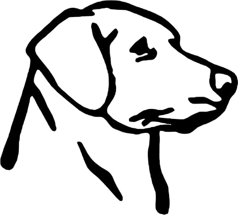 Labrador Dog Vinyl Car Window Laptop Decal Sticker