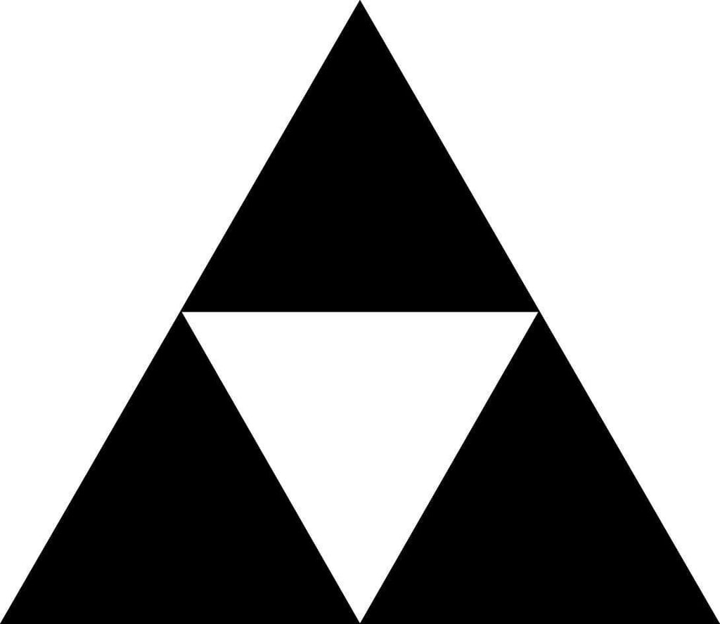Legend of Zelda - Triforce - Vinyl Car Window and Laptop Decal Sticker - Decal - Car and Laptop Window Decal Sticker - 1