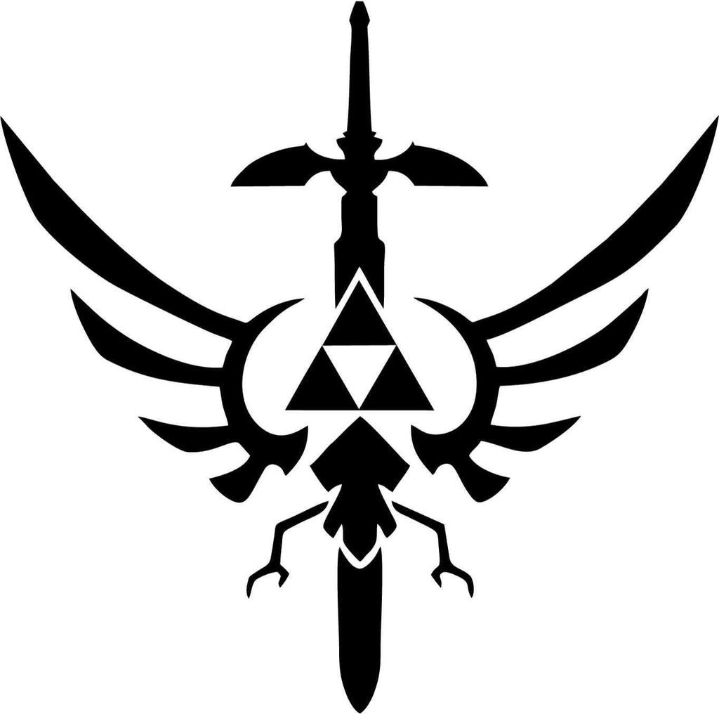 Legend Of Zelda Triforce Masterword Vinyl Car Window Laptop Decal