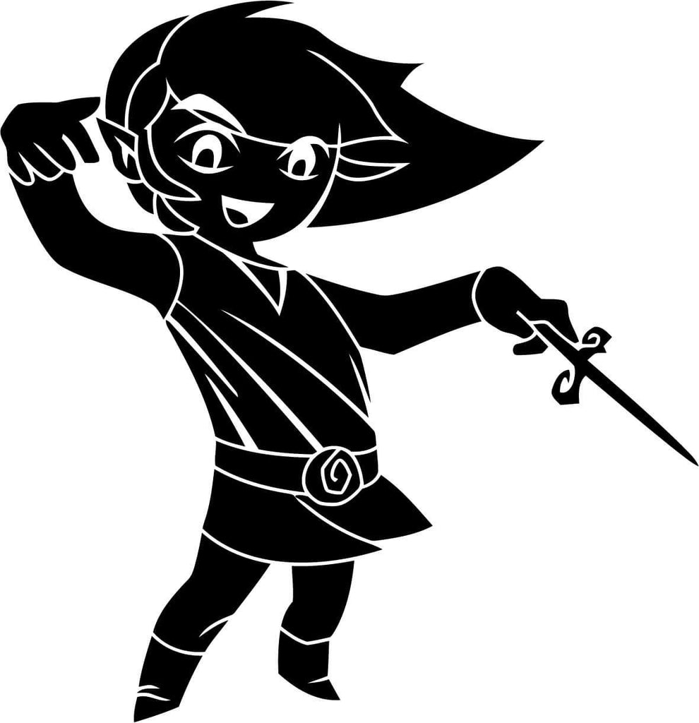 Link and the wind waker Vinyl Car Window Laptop Decal Sticker