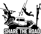 Mad Max Fury Road Share the Road  - Vinyl Car Window and Laptop Decal Sticker - Decal - Car and Laptop Window Decal Sticker - 1