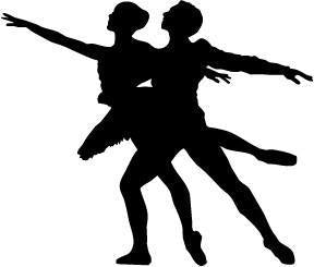 Male & Female Ballet Dancer Pose 1 Vinyl Car Window Laptop Decal Sticker