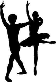 Male & Female Ballet Dancer - Pose 2 - Vinyl Car Window and Laptop Decal Sticker - Decal - Car and Laptop Window Decal Sticker - 1