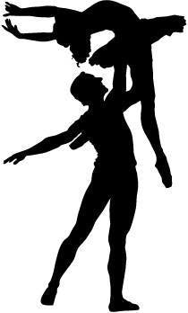 Male & Female Ballet Dancer Pose 4 Vinyl Car Window Laptop Decal Sticker