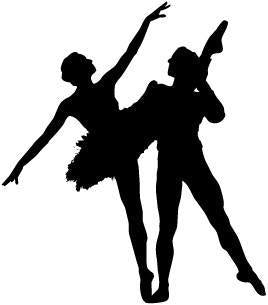 Male & Female Ballet Dancer - Pose 6 - Vinyl Car Window and Laptop Decal Sticker - Decal - Car and Laptop Window Decal Sticker - 1