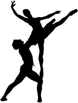Male & Female Ballet Dancer Pose 7 Vinyl Car Window Laptop Decal Sticker