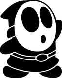 Mario Shy Guy Vinyl Car Window Laptop Decal Sticker