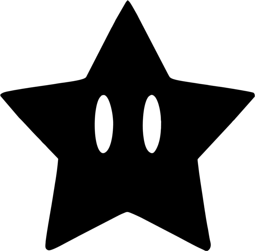 Mario star - Vinyl Car Window and Laptop Decal Sticker - Decal - Car and Laptop Window Decal Sticker - 1