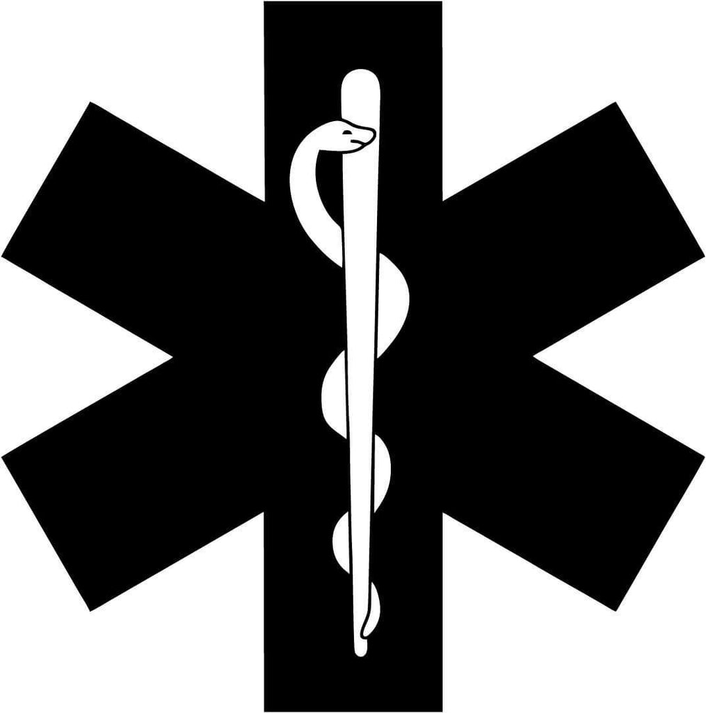 Medic Star of Life Symbol EMT EMS - Vinyl Car Window and Laptop Decal Sticker - Decal - Car and Laptop Window Decal Sticker - 1