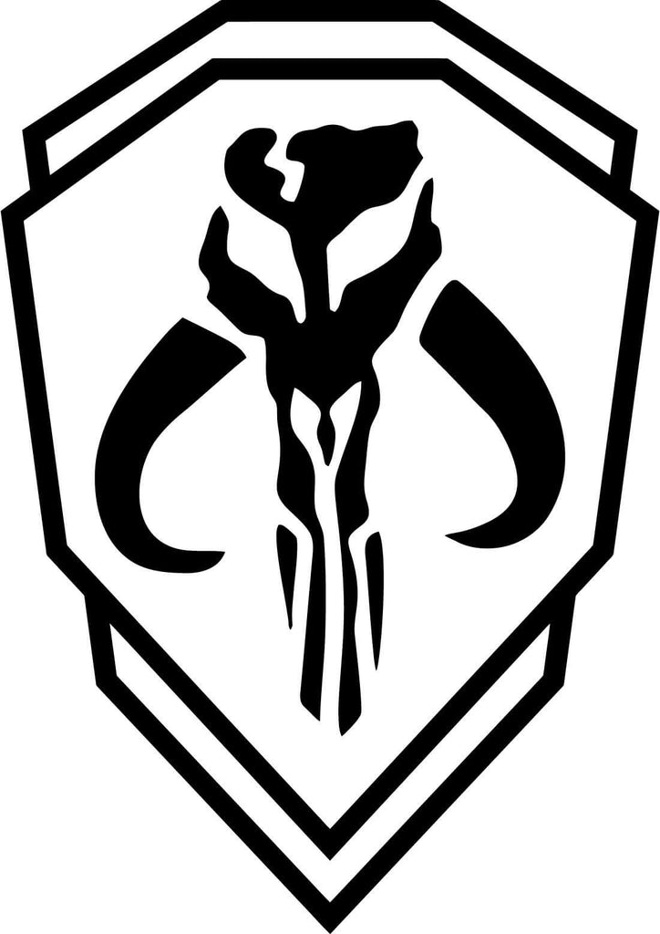 Mythosaur Skull Mandolorian Order Emblem Vinyl Car Window Laptop Decal Sticker