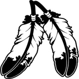 Native American Feathers Vinyl Car Window Laptop Decal Sticker
