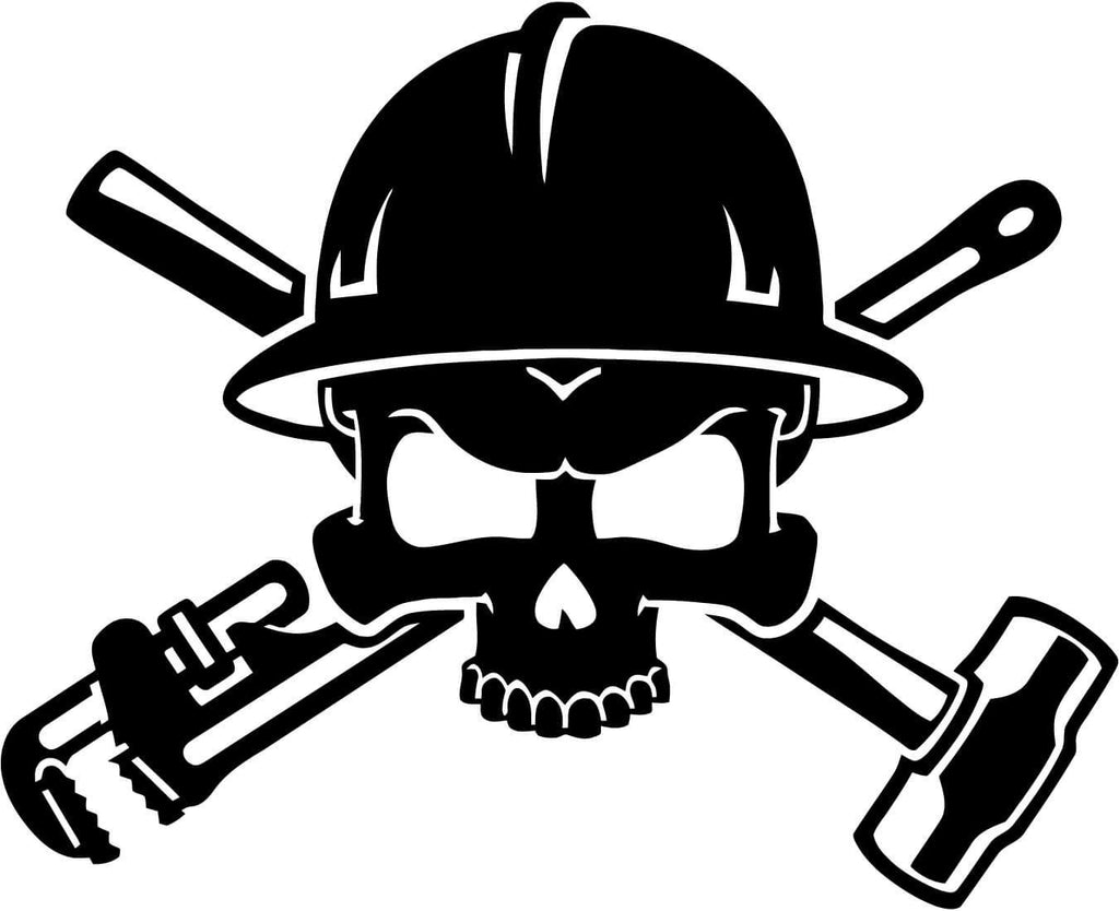 Oilfield Roughneck Skull Vinyl Car Window Laptop Decal Sticker