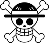 One Piece - Straw Hat Flag - Vinyl Car Window and Laptop Decal Sticker - Decal - Car and Laptop Window Decal Sticker - 1