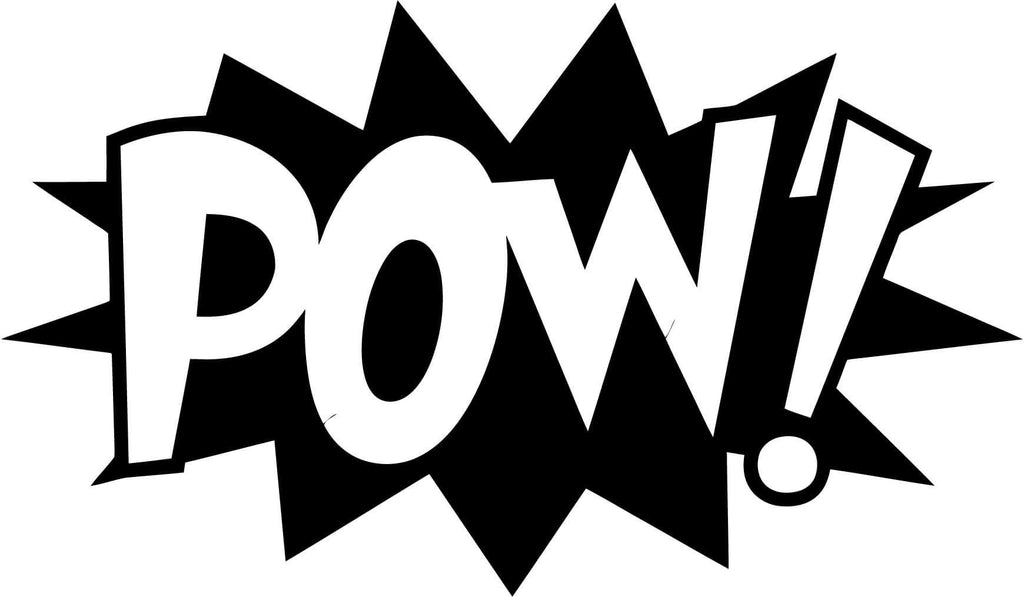POW! Comic Book Exclamation Vinyl Car Window Laptop Decal Sticker