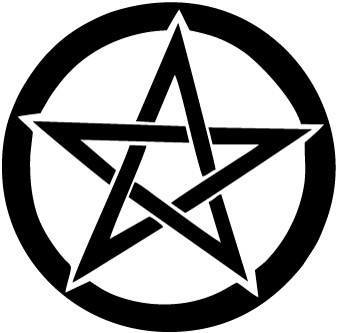 Pentacle Pentagram Wiccan Pagan Witch Vinyl Car Window Laptop Decal Sticker