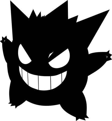 Pokemon Gengar Variation 2 Vinyl Car Window Laptop Decal Sticker