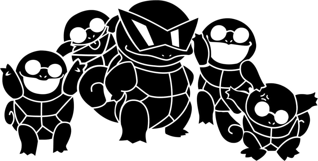 Pokemon Squirtle Squad Vinyl Car Window Laptop Decal Sticker