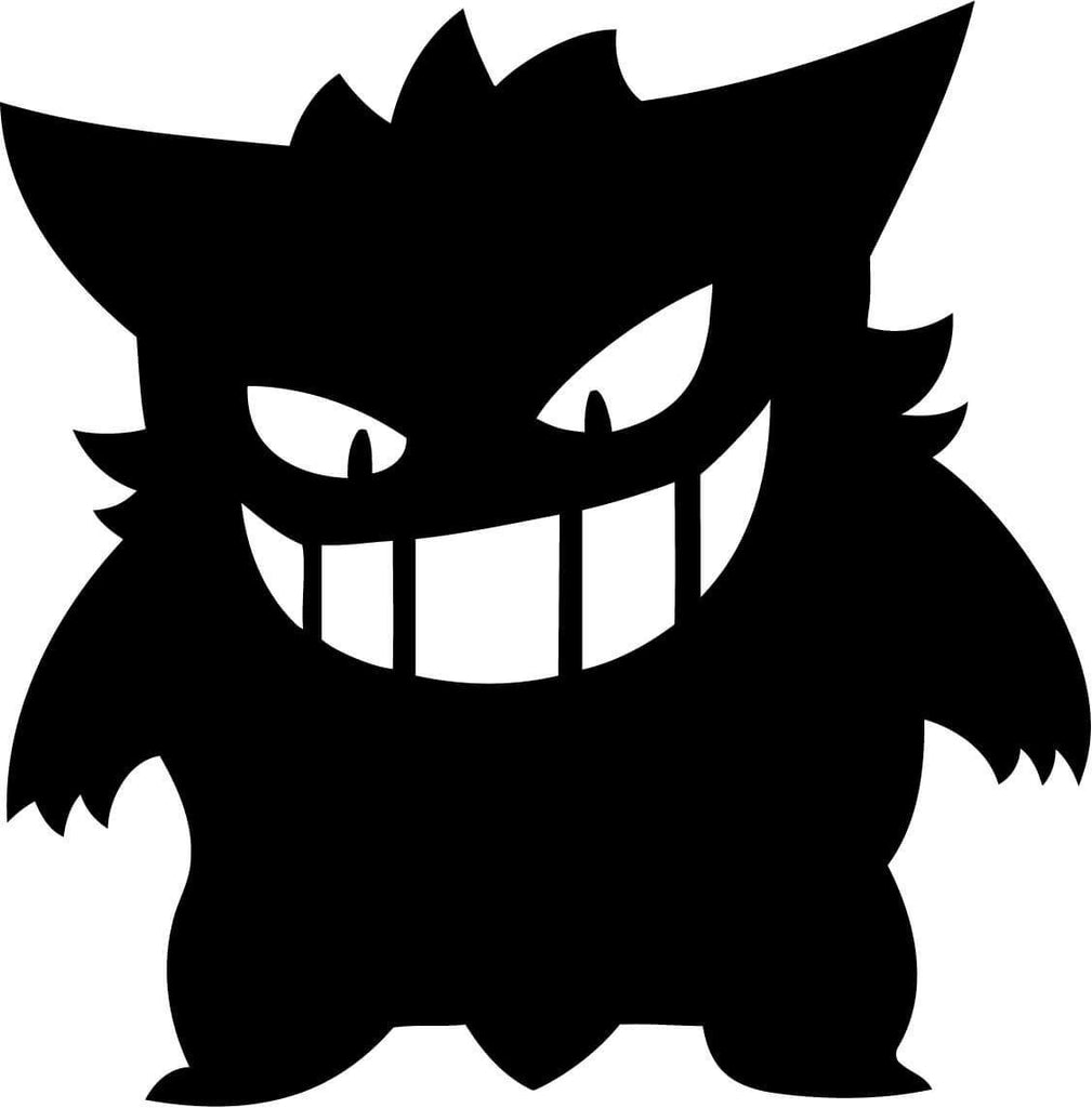 Pokemon - Gengar - Variation 1 - Vinyl Car Window and Laptop Decal Sticker - Decal - Car and Laptop Window Decal Sticker - 1