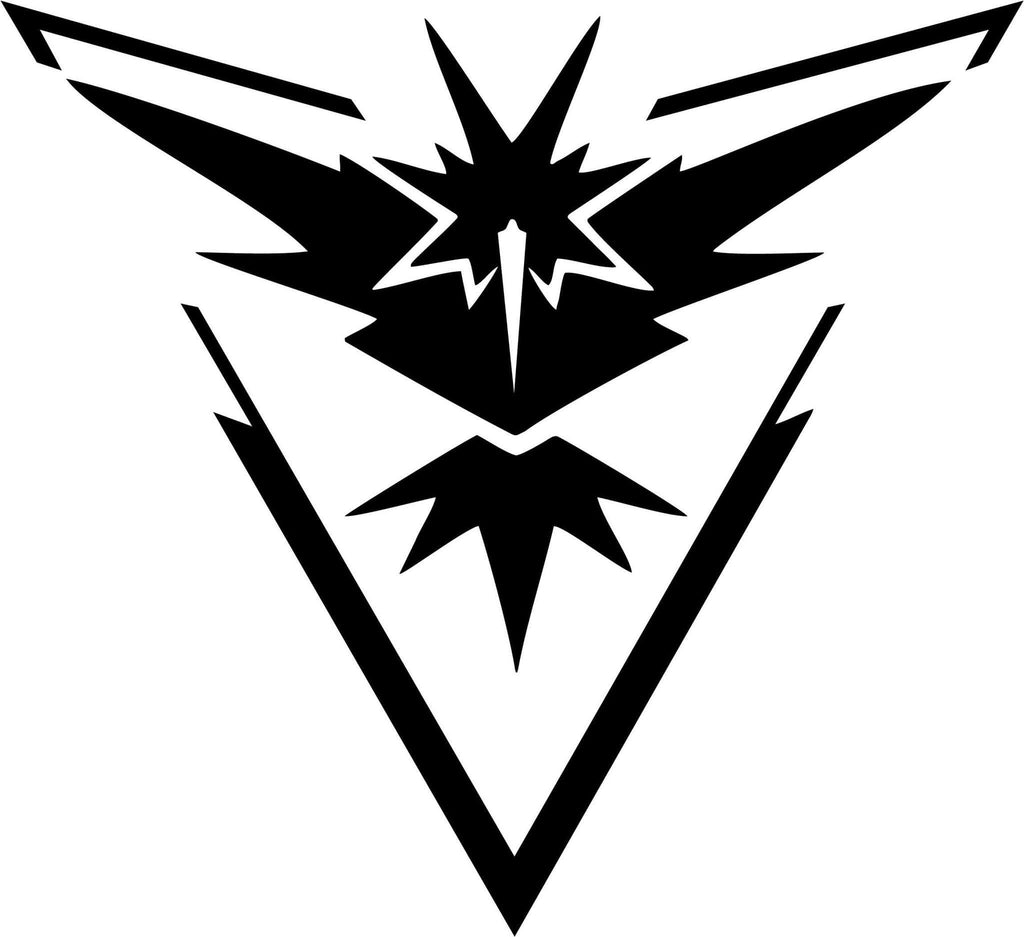 Pokemon Go - Team Instinct Symbol - Vinyl Car Window and Laptop Decal Sticker - Decal - Car and Laptop Window Decal Sticker - 1