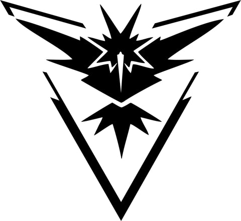 Pokemon Go - Team Instinct Symbol - Vinyl Car Window and Laptop Decal Sticker