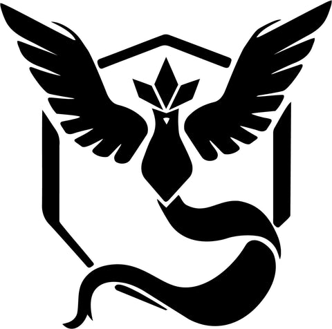 Pokemon Go - Team Mystic Symbol - Vinyl Car Window and Laptop Decal Sticker