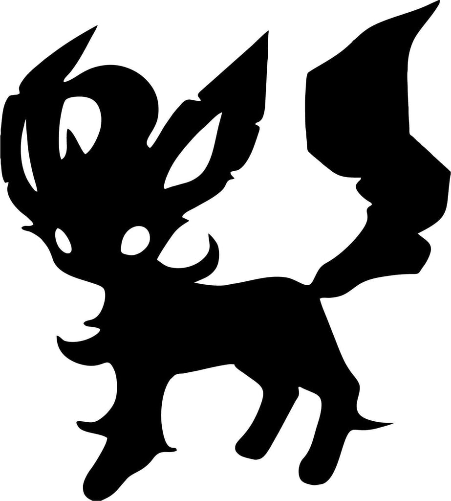 Pokemon - Leafeon - Vinyl Car Window and Laptop Decal Sticker - Decal - Car and Laptop Window Decal Sticker - 1