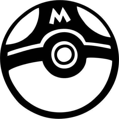 Pokemon Masterball Vinyl Car Window Laptop Decal Sticker