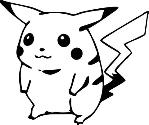 Pokemon Pichachu Version 2 Vinyl Car Window Laptop Decal Sticker