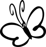 Pretty Butterfly Butterflies Vinyl Car Window Laptop Decal Sticker