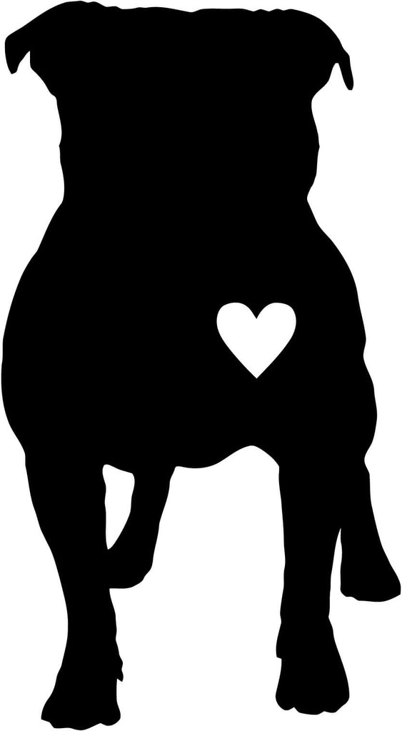 Pug Love with Heart Vinyl Car Window Laptop Decal Sticker
