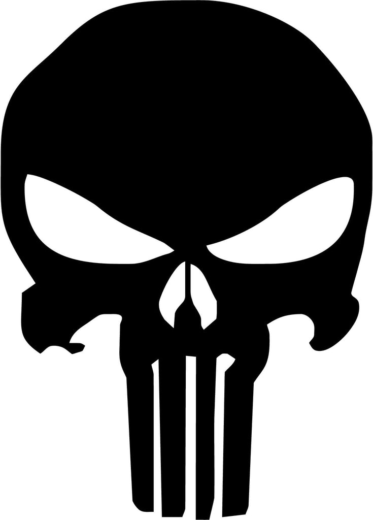 Punisher Skull Vinyl Car Window Laptop Decal Sticker