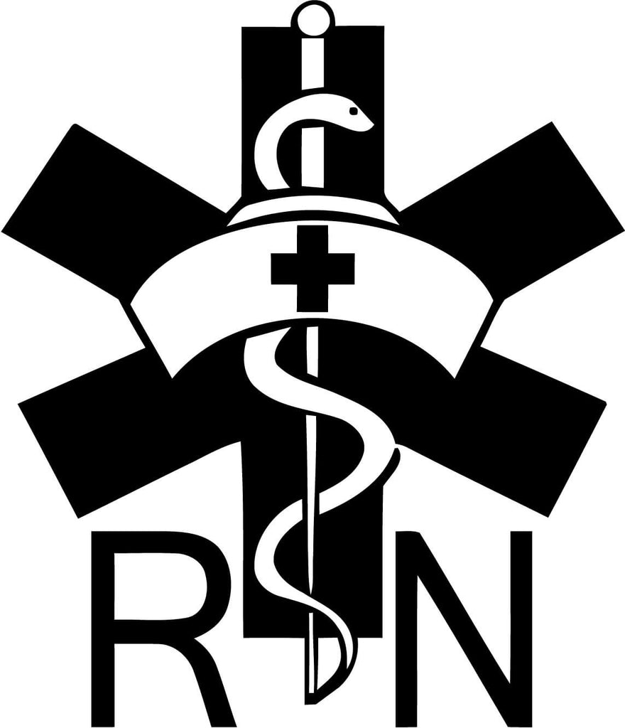 Rn Registered Nurse Vinyl Car Window Laptop Decal Sticker Decal