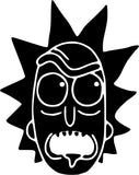 Rick and Morty Rick Head Vinyl Car Window Laptop Decal Sticker
