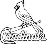 St. Louis Cardinals MLB Baseball Logo Vinyl Car Window Laptop Decal Sticker
