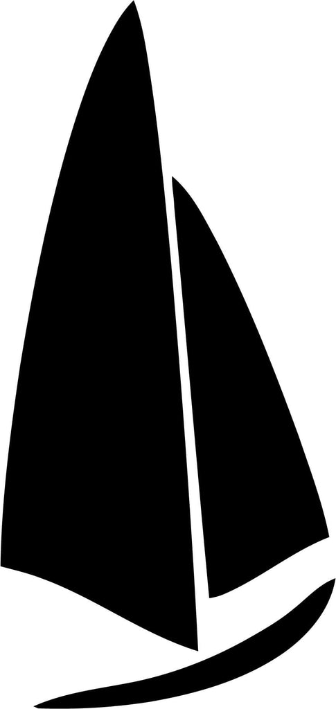 Sailboat Nautical Sailing Boat Yacht Wind Vinyl Car Window Laptop Decal Sticker