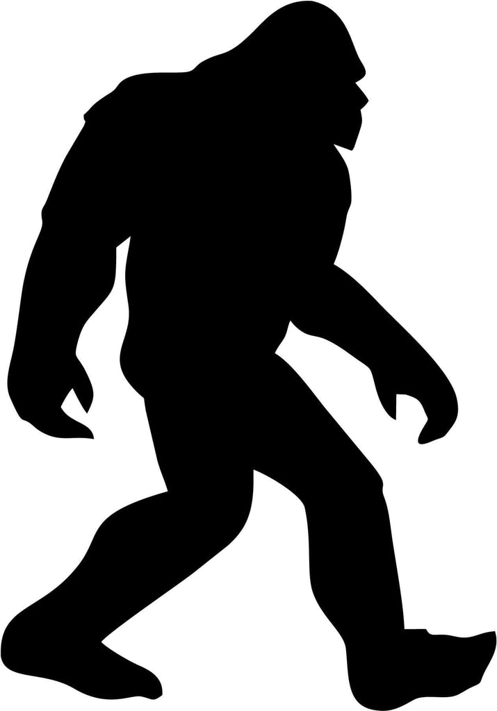 Sasquatch Big Foot Vinyl Car Window Laptop Decal Sticker