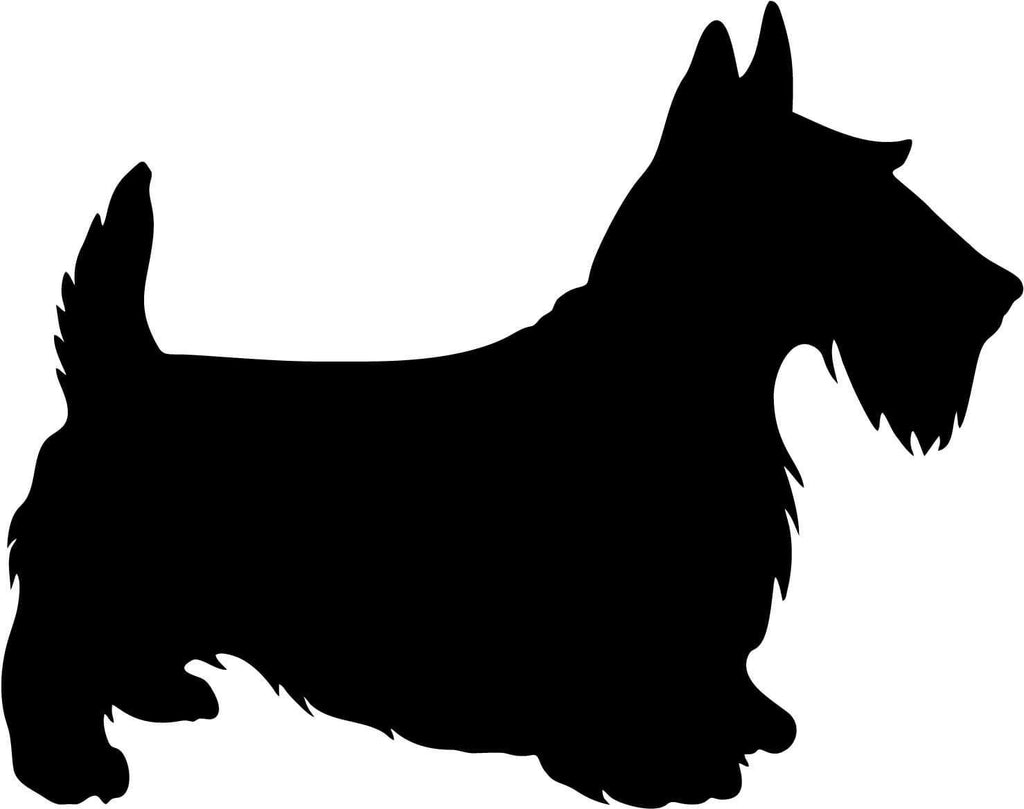 Scottie Dog Vinyl Car Window Laptop Decal Sticker