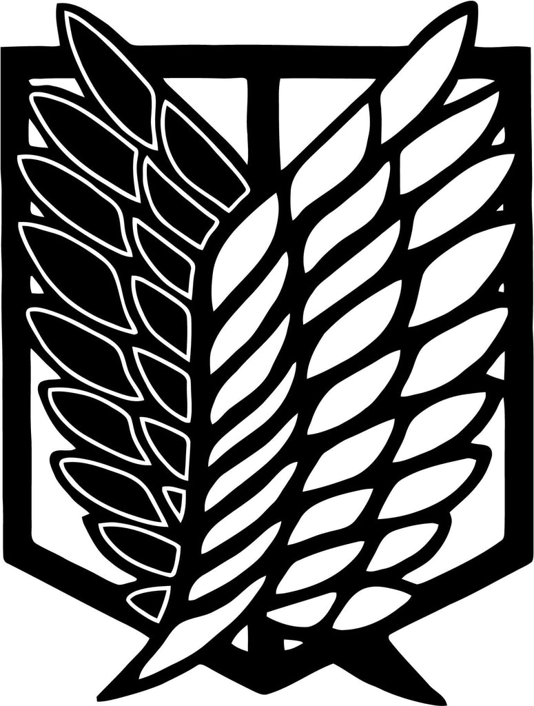Shingeki No Kyojin Attack On Titan Wings Of Freedom V2 Car Window Decal Sticker