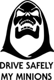 Skeletor Drive Safely My Minions Vinyl Car Window Laptop Decal Sticker