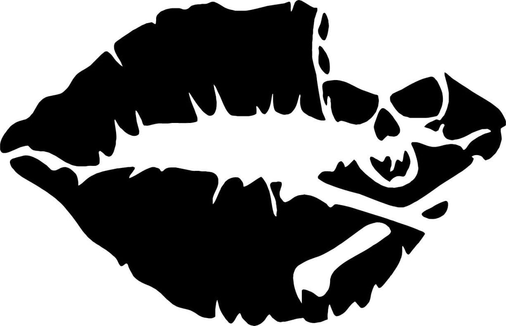 Skull lips Vinyl Car Window Laptop Decal Sticker