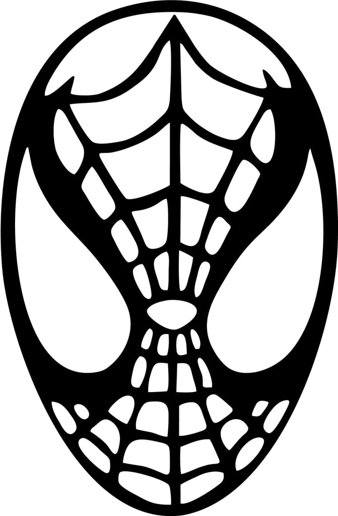 Spiderman head vinyl car window and laptop decal sticker decal car and